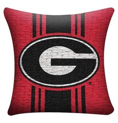 "NCAA Georgia Bulldogs 20""x20"" Woven Pillow - Black/Red"