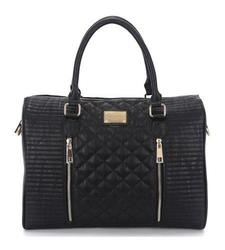 """Sandy Lisa Siena Quilted Tote for 14"""" Laptop & Tablet - Black - Size: One"""
