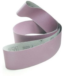 3M 302D Coated Aluminum Oxide Sanding Belt - P400 Grit - 3 in Width x 132 in Length - 30738 [PRICE is per BELT]