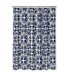 "Sabrina Soto Cabana Shower Curtain - Navy/White - Size: 72""x72"""