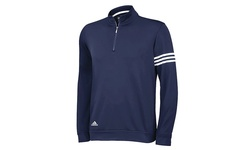 Adidas Men's 3-Stripe French Terry Knit Pullover - Navy - Size: Medium