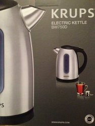 Krups BW730D 6-cup Stainless Steel Electric Hot Water Kettle