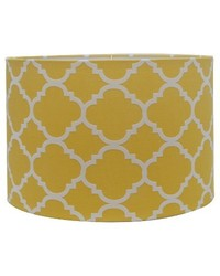 Threshold Straight Drum Flocked Ogee Lamp Shade - Summer Wheat - Size: L