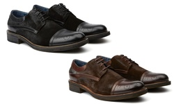 The Wing Cap Toe Shoe: Brown-12