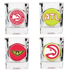 Great American NBA Atlanta Hawks Shot Glasses - Set of 4