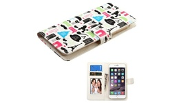 Insten Flip Leather Case For iPhone 6 Plus LG G3 Galaxy Note 4 ZTE Z