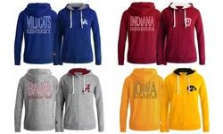 Women's NCAA Lowa Full Zip Hoodie - Heather Gray - Size: Medium