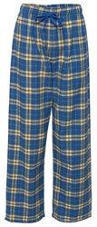 Fashion Flannel Pajama Pant, Royal/Gold, 2XL
