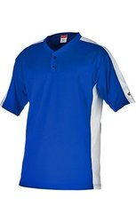 Rawlings Youth Two Button YJSB Jersey, Royal, Youth Medium