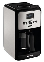 Krups Savoy Programmable Digital Coffee Maker Machine - Silver