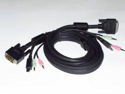 ConnectPRO 6 ft. DVI-I/USB/Audio 3-in-1 Premium KVM Cable SDU-06A