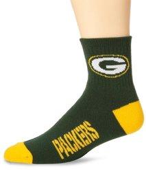 NFL Green Bay Packers Men's Team Quarter Socks, Medium