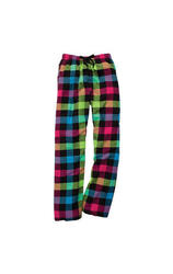Boxercraft Women's Flannel Pants - Neon Plaid - Size: Medium