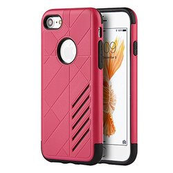 Dream Wireless Movement Hybrid Rugged Case for for iPhone 7 - Hot Pink