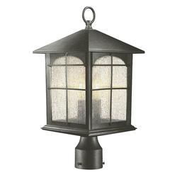 HDC Y37031A-151 Brimfield 3-Light Aged Iron Outdoor Post Light