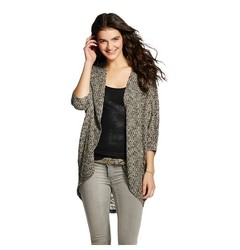 Mossimo Supply Women's Solid Hacci Cocoon Cardigan - Black - Size: Small