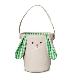 Spritz Fabric New Bunny Easter Basket - Green