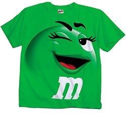 M&m Jumbo Fade Adult T-shirt: Green/xs
