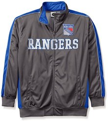 NHL New York Rangers Men's Reflective Track Jacket, 2X, Charcoal/Royal