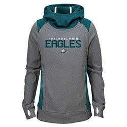 Girl's NFL Philadelphia Eagles Hoodie - Light Charcoal - Size: M (10-12)