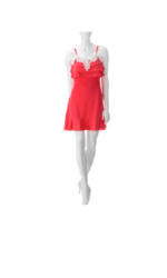 Made For Me To Look Amazing Crochet Applique Dress - Coral - Size: XL