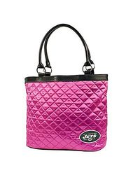NFL New York Jets Pink Quilted Tote