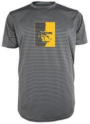 NCAA Pittsburgh State Gorillas Men's Between the Lines Short Sleeve Crew Neck Tee, Large, Storm Gray