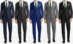 Joel Orris Men's Slim-fit 2pc Suits: Cool Blue/44sx38w