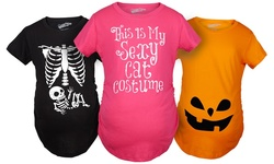 Halloween Maternity T-shirt: X-ray Baby/small