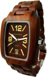 Tense Wood Men's Jumbo Rectangle Watch - Sandalwood (J8102SQR-G)