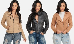 Vegan Leather And Vegan Suede Biker Jackets: Style 007469/small