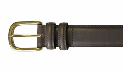 Van Heusen Belt Double Stitch & Loop with Brass Buckle - Size: 35MM/34