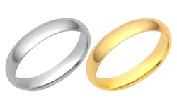 Gold 4mm Plain Band: White Gold/7