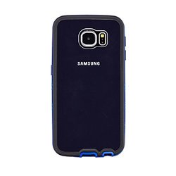 VOIA AirShield PC Bumper Case for Samsung Galaxy S6 - Retail Packaging - Blue
