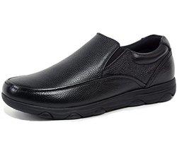 Alpine Swiss Men's Leather Slip-Resistant Work Shoes - Black - Size: 12M