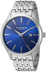 Akribos XXIV Men's Quartz Date Stainless Steel Bracelet AKGP941SSBU