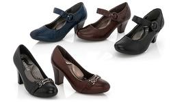 Rasolli Girl's Mary-Jane Comfort Dress Shoes 1138 - Navy - Size: 10