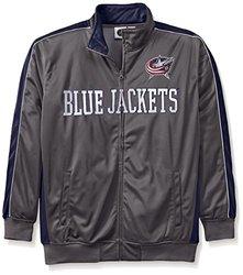 Majestic NHL Men's Columbus Blue Jacket - Charcoal/Navy - Size: 2X