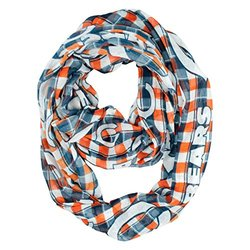 Nfl Plaid Infinity Scarf: Chicago Bears