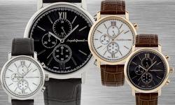 Auguste Jaccard Accordini Men's Watch - Black Band