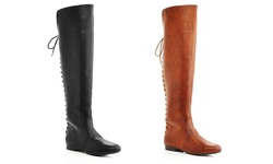 Geri Over The Knee Fashion Boots: Camel/11