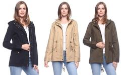 Hooded Utility Jacket: Olive/ Medium