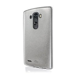 VOIA Jell Skin Carrying Case for LG G4 - Retail Packaging - Pearl Silver