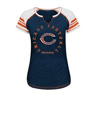 NFL Chicago Bears Women's Short Sleeve Split Neck Tee - Assorted - Size: M