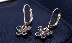 Beverly Hills 14kt Gold Cubic Zirconia Heart Huggie Earring for Kids
