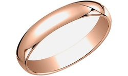 Sevil Women's Plated Sterling Silver Wedding Band - Rose Gold - Size: 11