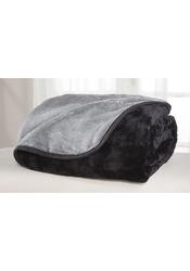 All Seasons Reversible Microfleece Blankets Black/Grey