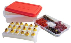 Rachael Ray 4-Piece FoodTastic Plastic Party Box - Red