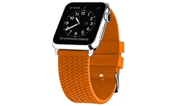 Waloo Rubber Tire Tread Apple Watch Replacement Band in 38mm - Orange