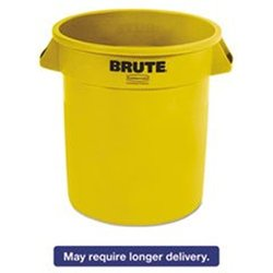 Rubbermaid Receptacles Brute Round Waste Container - 10 gal- Yellow